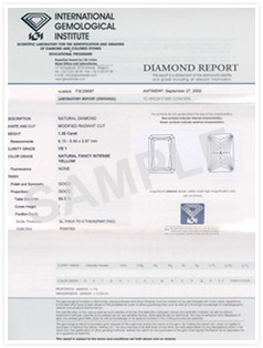 IGI Diamonds Certification