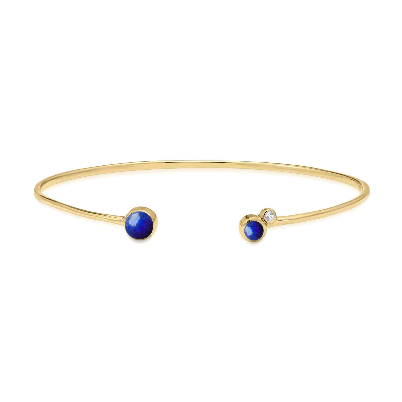 Orbis Lapis Fine Cuff Bracelet