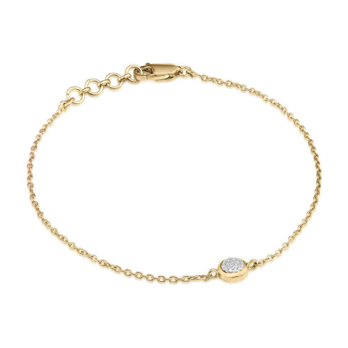Classic Pave Diamond Round Chain Bracelet