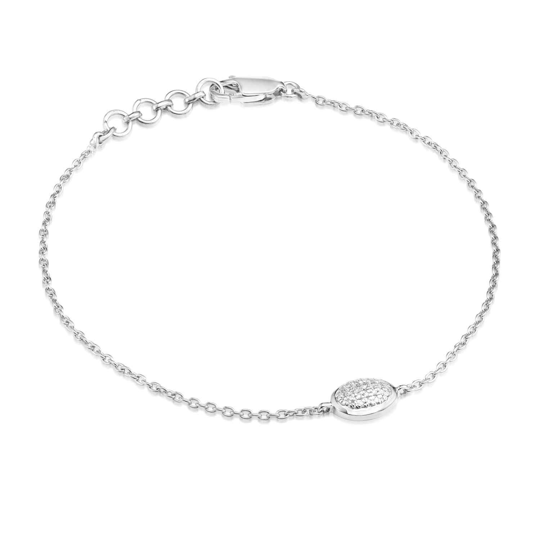 Classic Pave Diamond Oval Chain Bracelet
