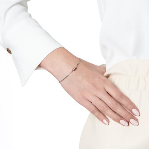 Ornate Garnet Bead Bracelet