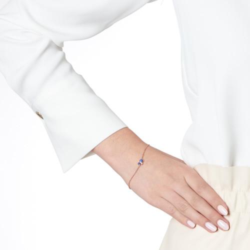 Orbis Lapis Fine Chain Bracelet