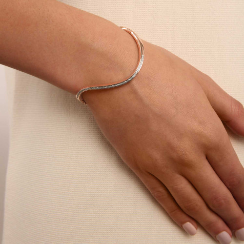 Marque Hoop Diamond Bangle