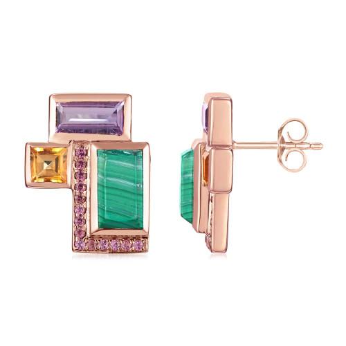Ornate Geometric Stud Earrings
