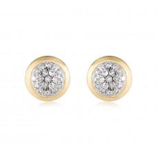 Classic Pave Diamond Round Earrings