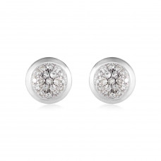 Classic Pave Diamond Round Earrings