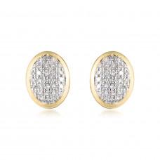 Classic Pave Diamond Oval Earrings