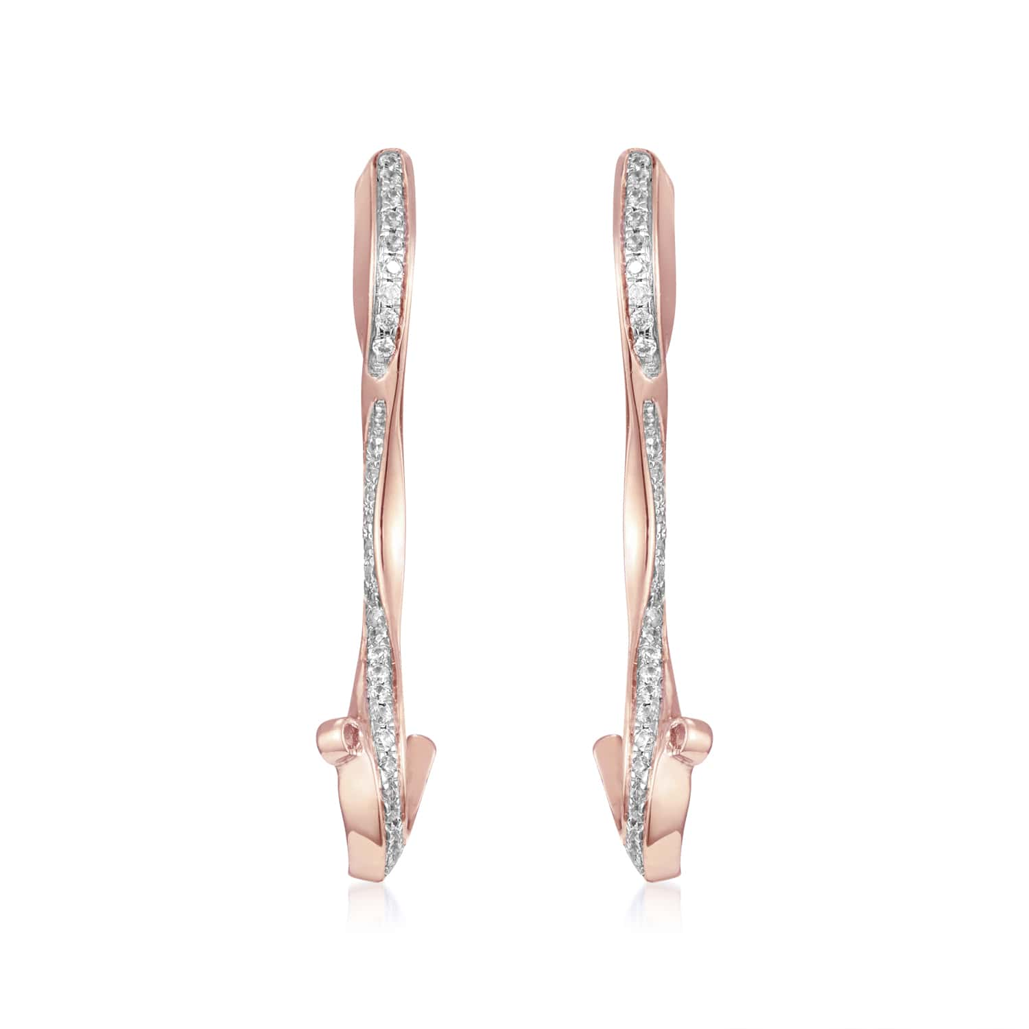 Marque Ripple Diamond Stud Earrings