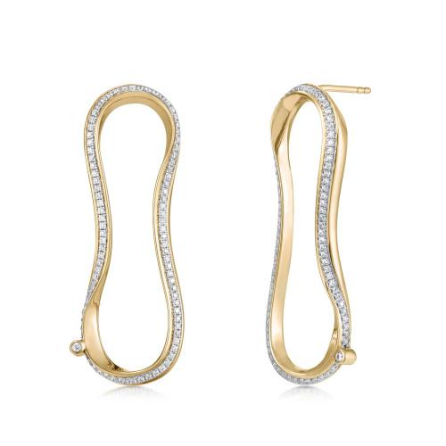 Marque Diamond Aureole Stud Earrings