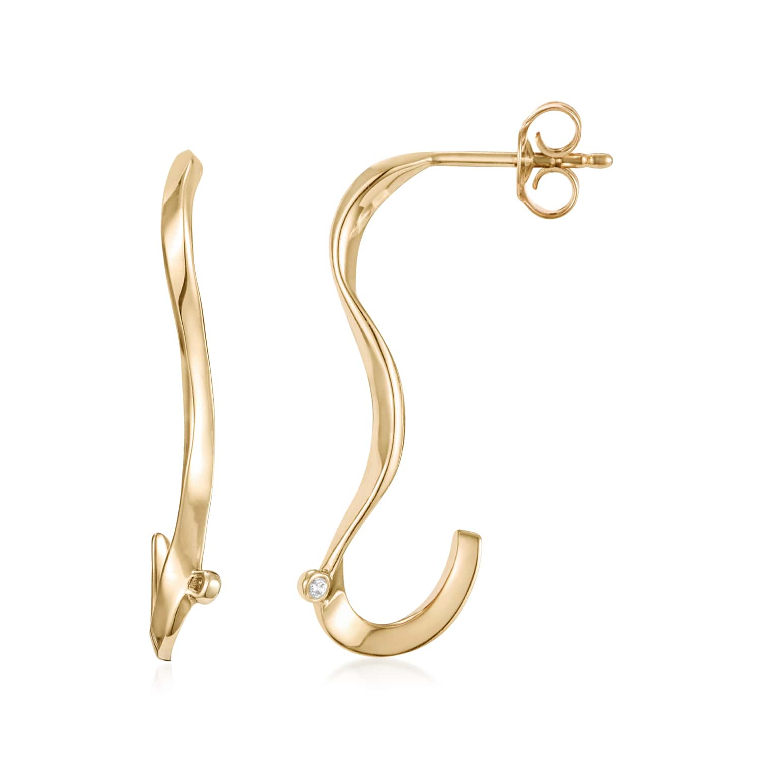 Marque Ripple Stud Earrings