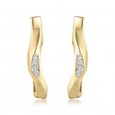 Marque Curved Hoop Earrings