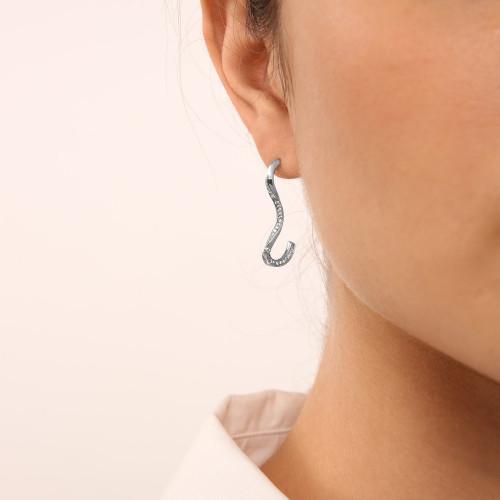 Marque Ripple Diamond Stud Earrings