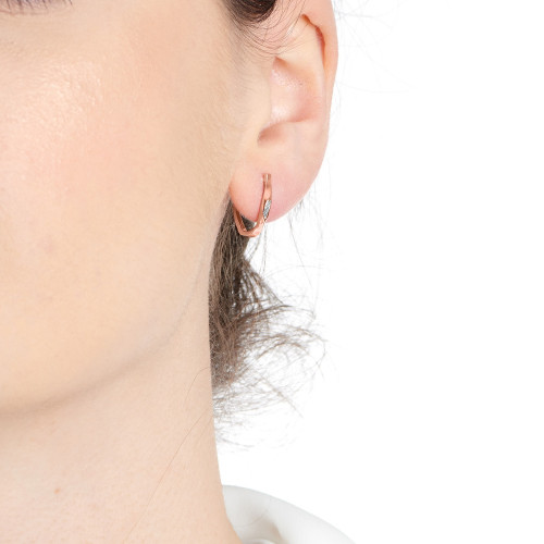Marque Curved Hoop Earrings