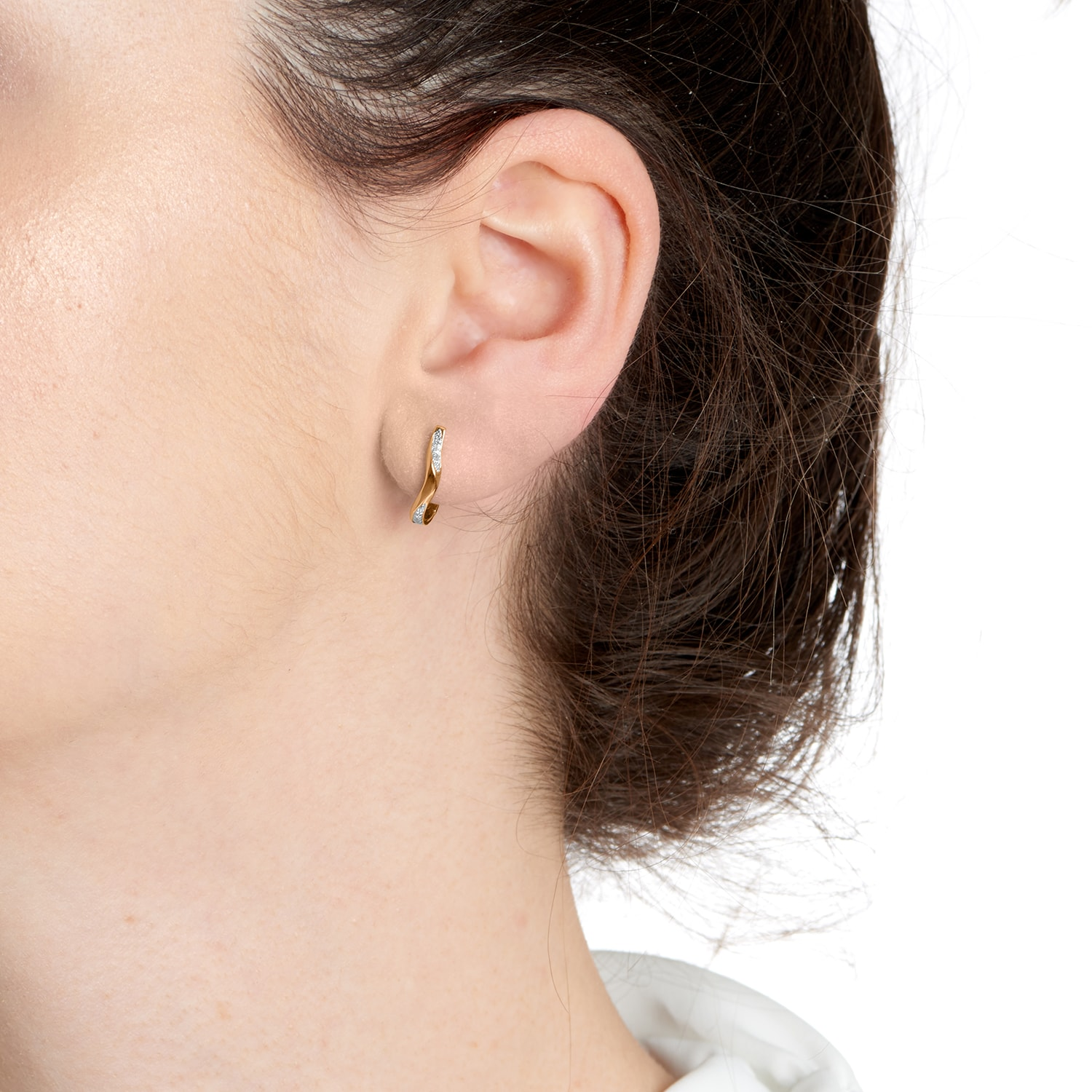 Marque Ripple Hoop Earrings