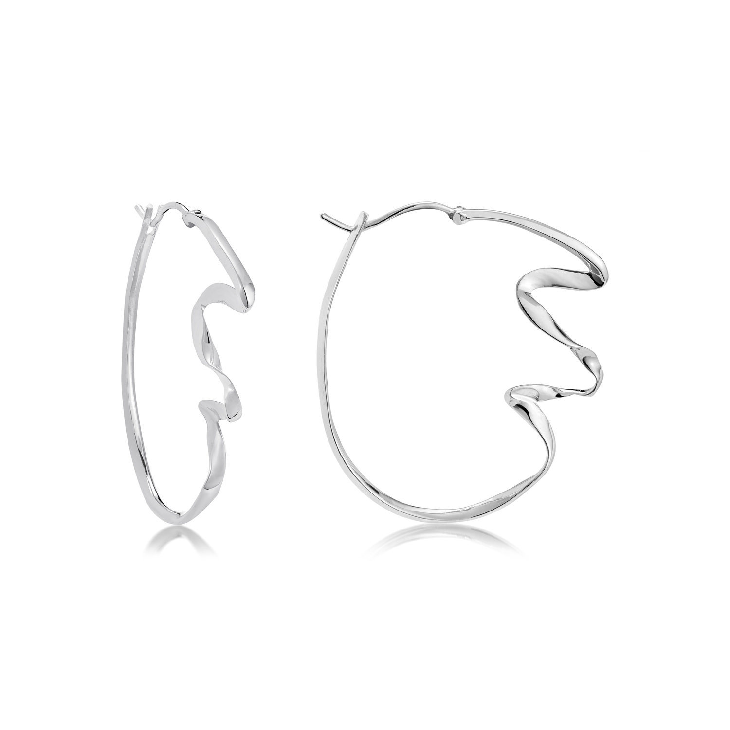 WAVE LARGE HOOP EARRINGS