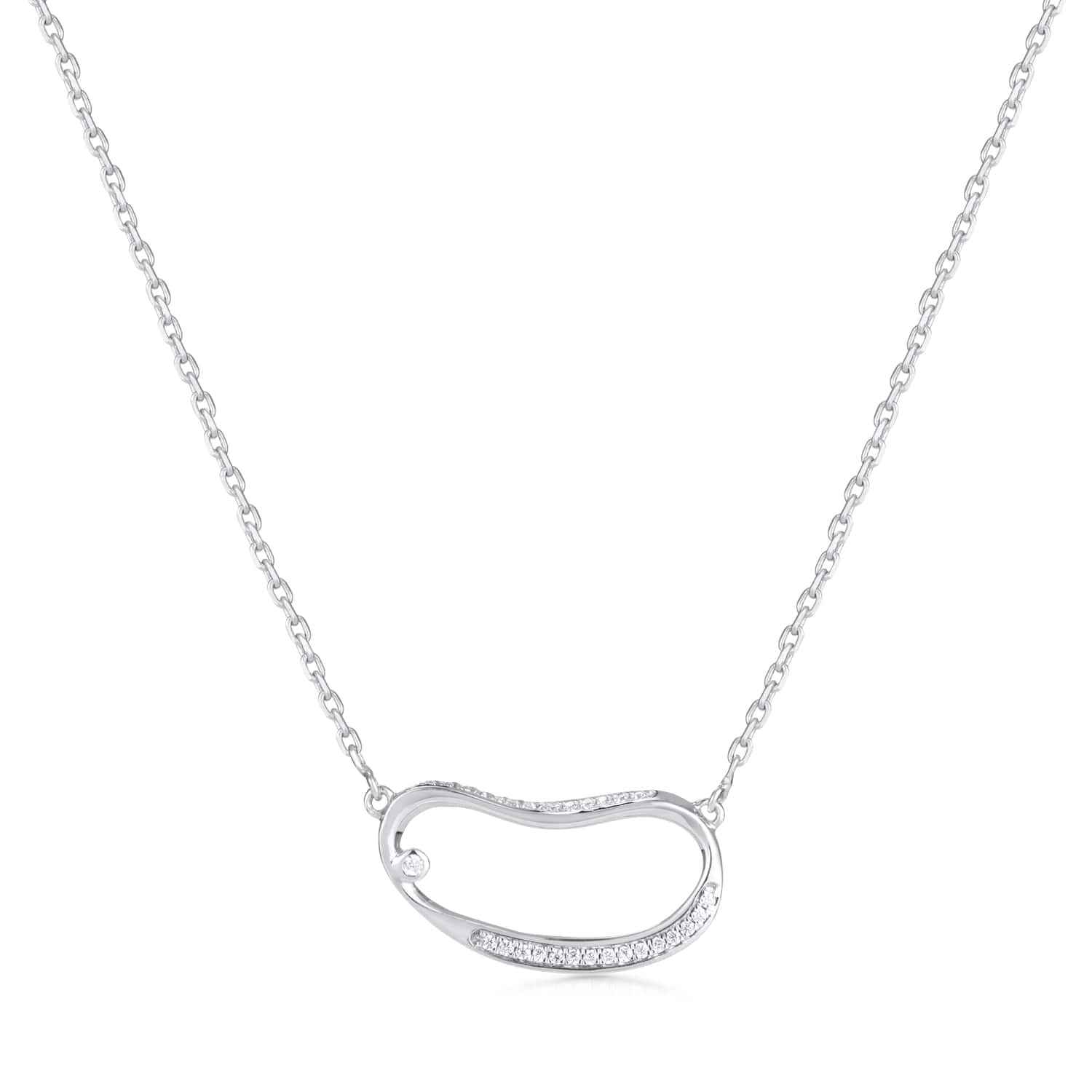 Marque Hoop Diamond Necklace
