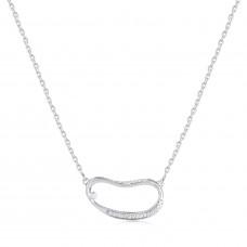 Marque Hoop Diamond Necklace