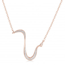 Marque Diamond Slash Necklace