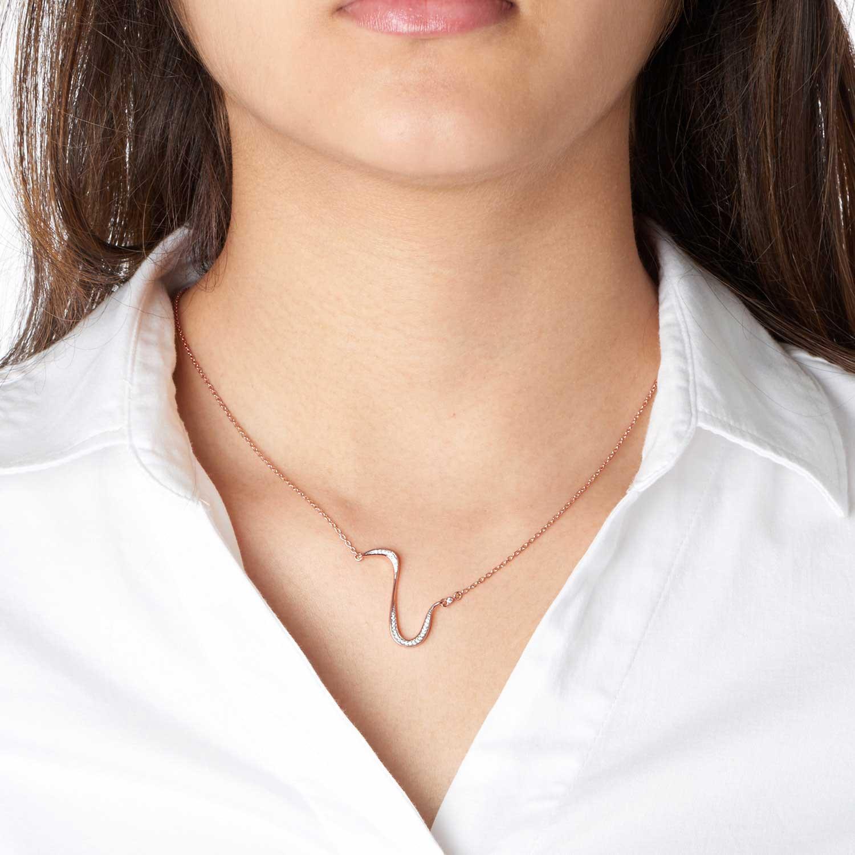 Marque Diamond Slash Necklace