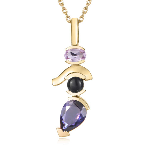 Belle Stacked Pendant