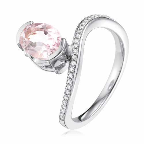 Belle Pink Amethyst Oval Ring