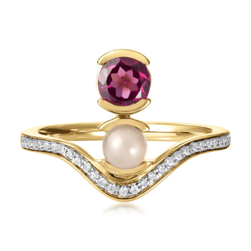 Belle Stacked Garnet Ring