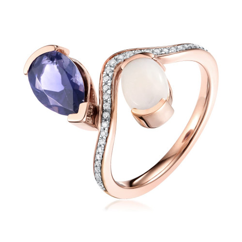 Belle Iolite And Opal Dipped Ring