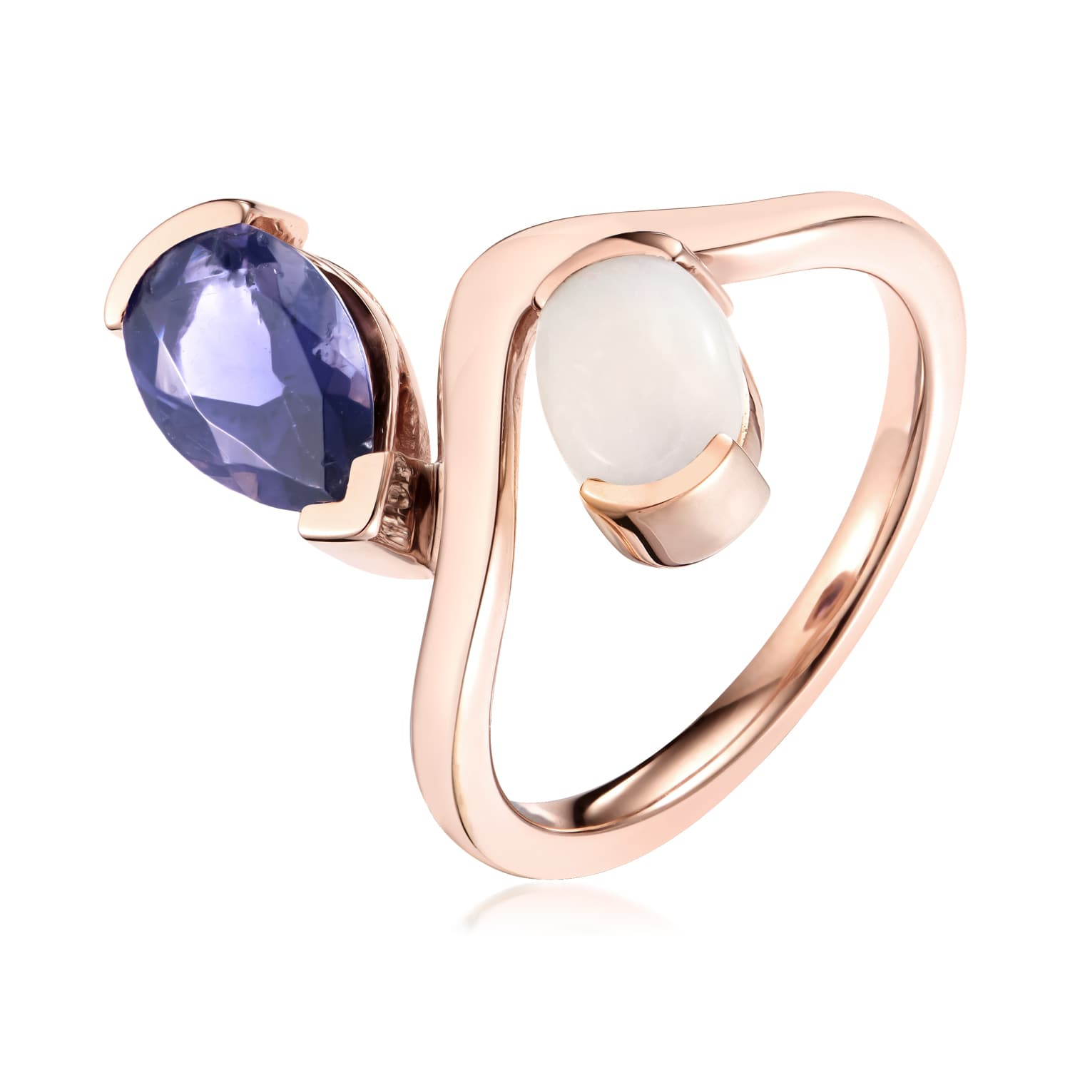 Belle Opal And Iolite Dipped Ring