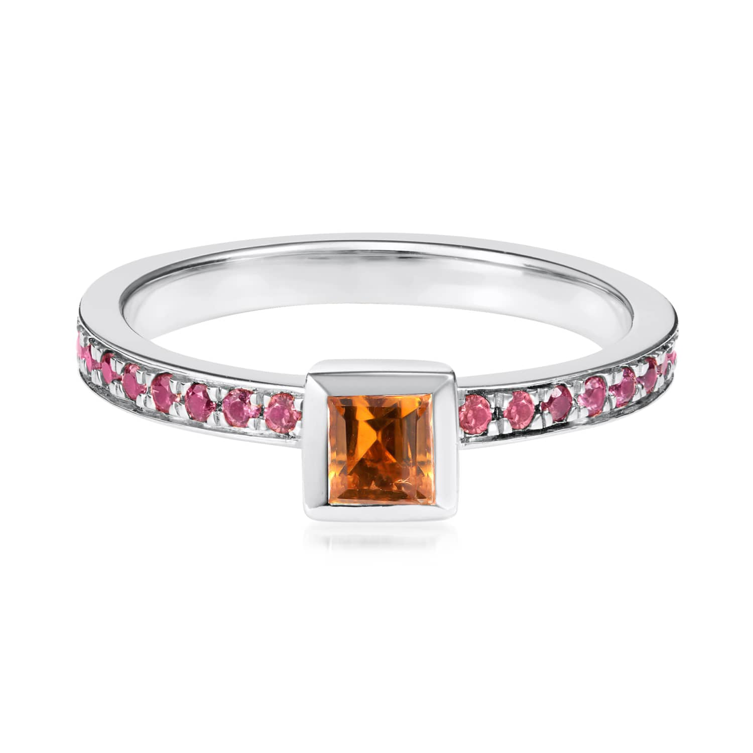 Ornate Square Citrine Ring