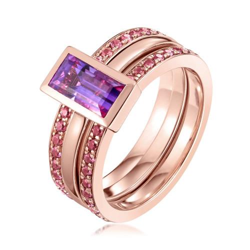Ornate Amethyst Eternity Ring
