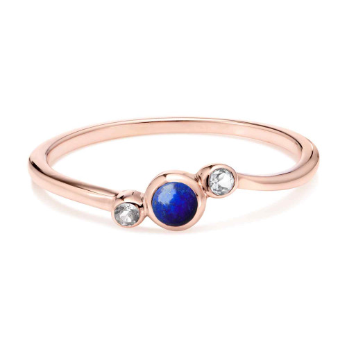 Orbis Lapis Fine Twist Ring