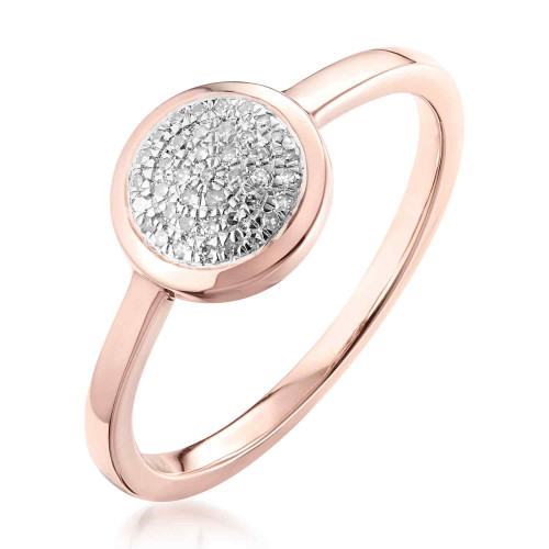 Classic Pave Diamond Round Ring
