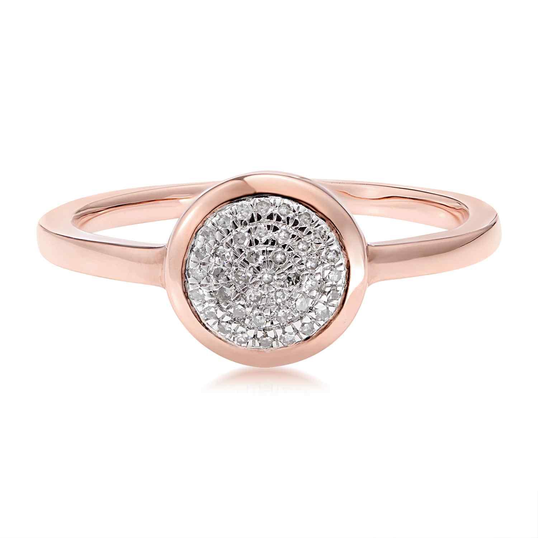 Classic Pave Diamond Round Ring