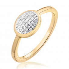 Classic Pave Diamond Oval Ring