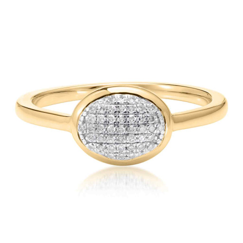Classic Pave Diamond Oval Ring
