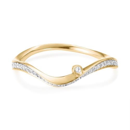 Marque Diamond Ripple Ring
