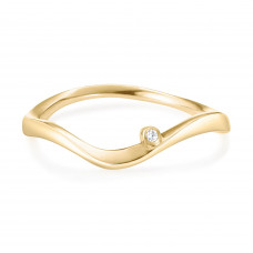 Marque Curved Ripple Ring