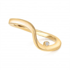 Marque Ripple Curved Ring