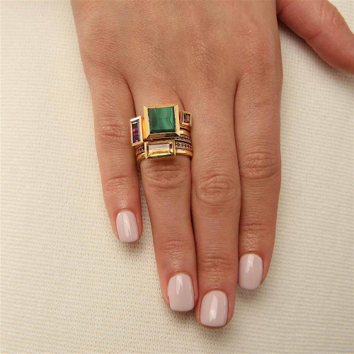 Ornate Stacked Ring