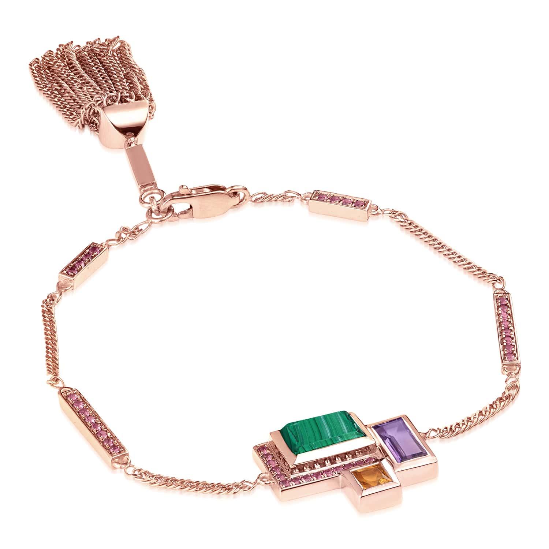 Ornate Geometric Tassel Bracelet