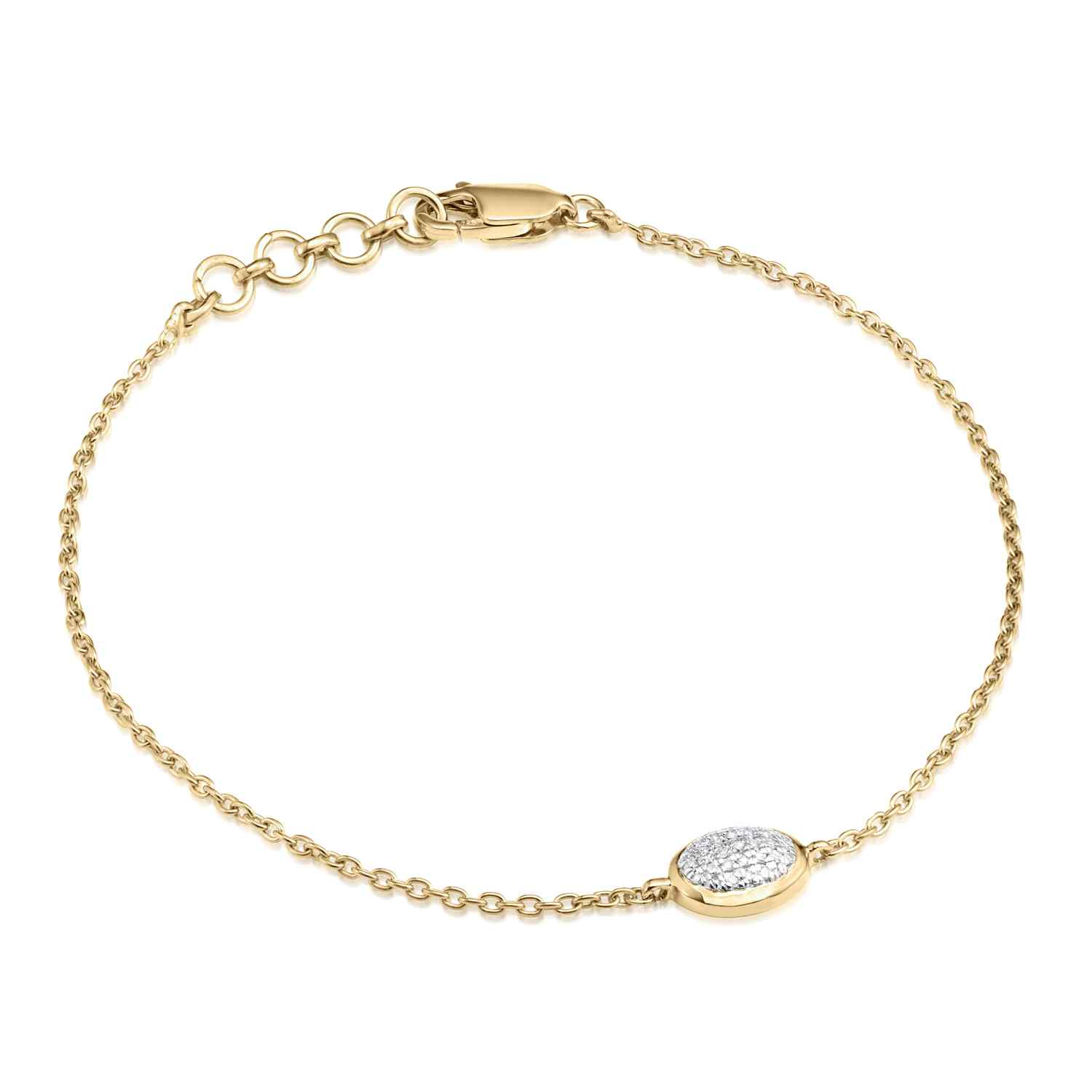 Classic Pave Diamond Oval Chain Bracelet