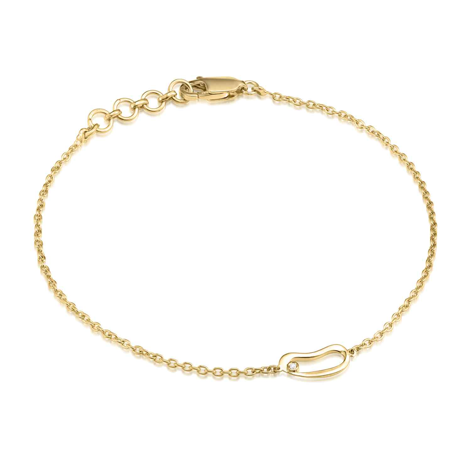 Marque Small Hoop Chain Bracelet