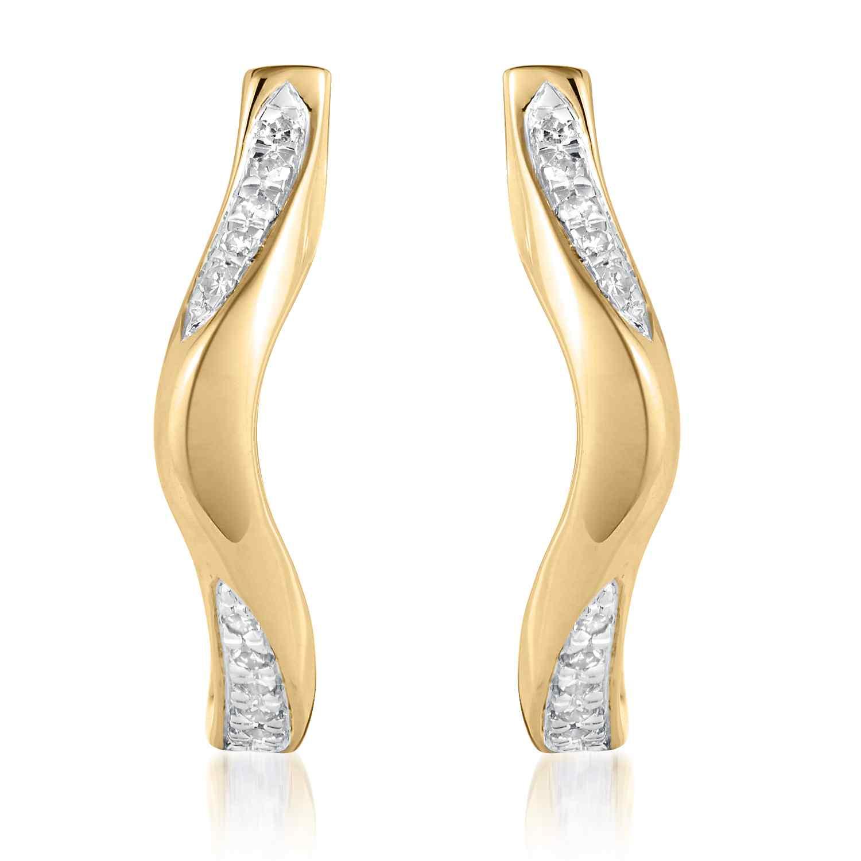 Marque Ripple Hoop Earrings