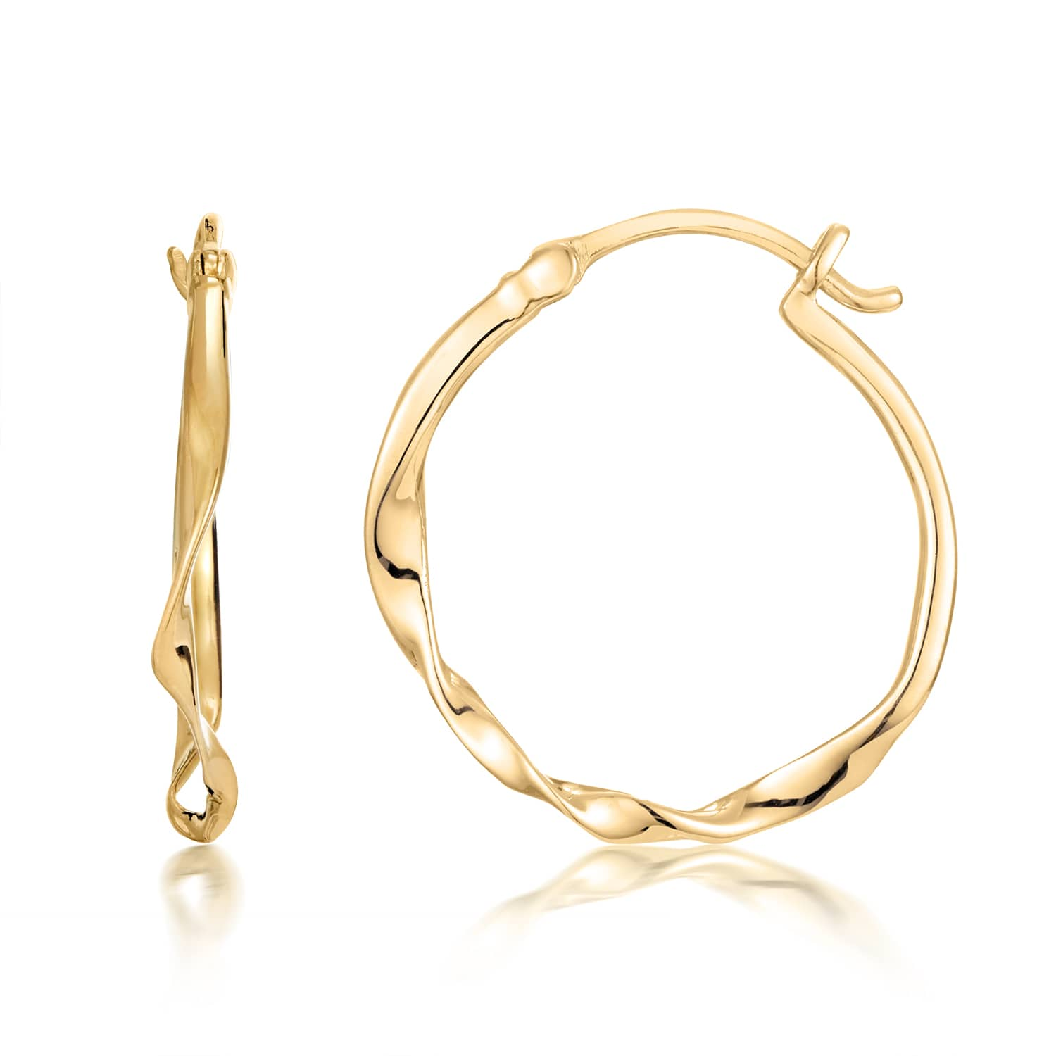 WAVE SMALL HOOP EARRING
