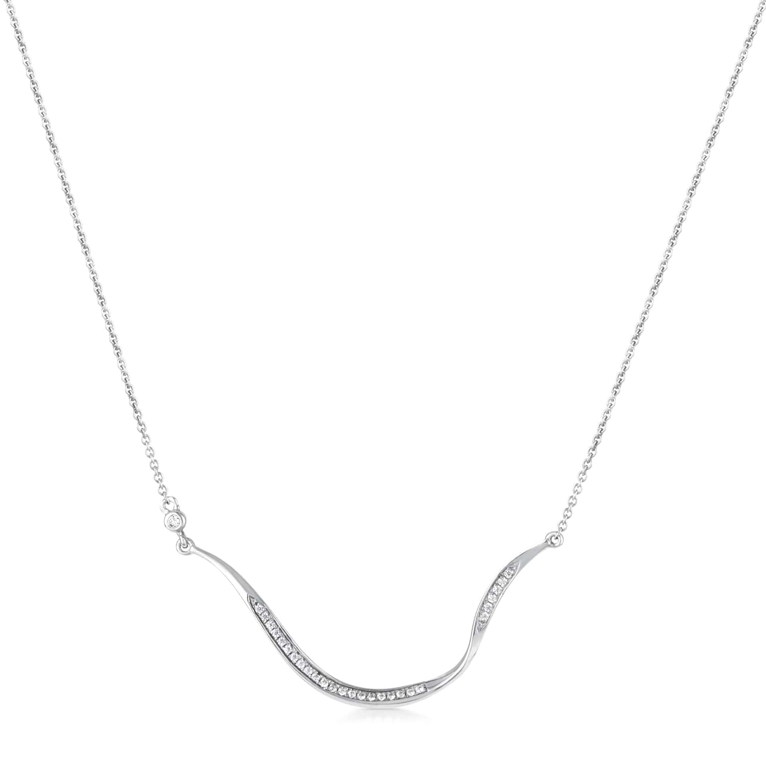 Marque Curved Diamond Necklace