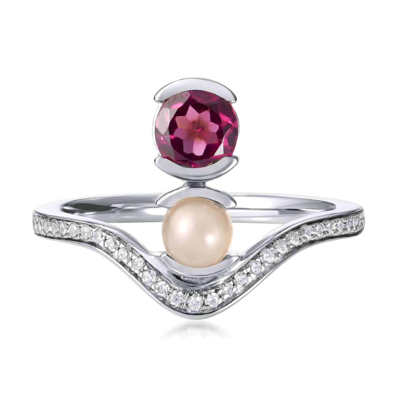 Belle Stacked Garnet Ring
