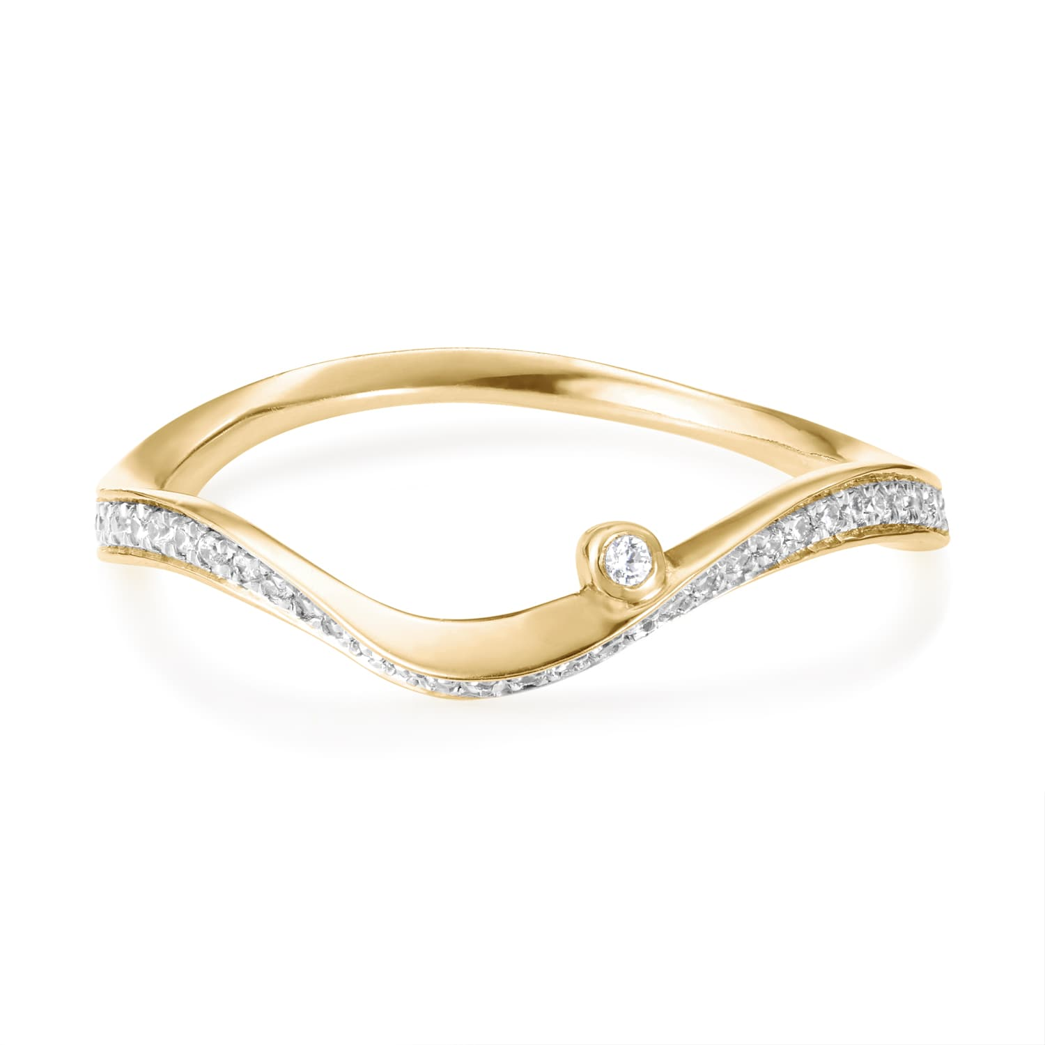 Marque Diamond Ripple Ring